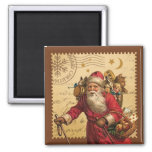 Vintage Christmas Square Magnet