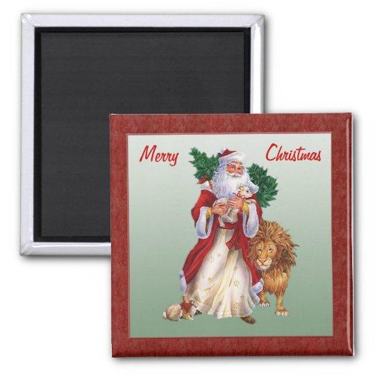 Vintage Christmas, St.Nicolas Magnet