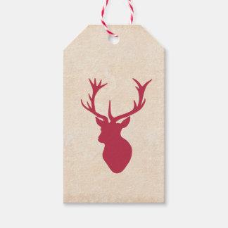 Vintage Christmas Stag Gift Tags