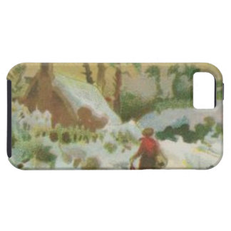 Vintage Christmas Stitching and Christmas Greeting iPhone 5 Covers