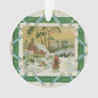 Vintage Christmas Stitching and Christmas Greeting