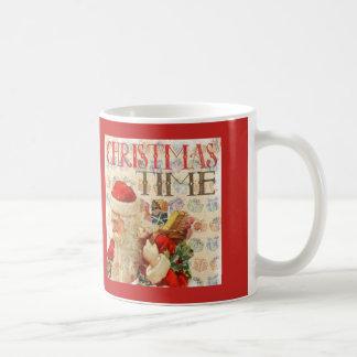 Vintage Christmas Time Santa Claus Coffee Mug