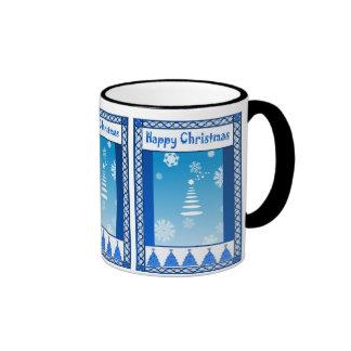 Vintage Christmas,  Tree and snowflakes Mugs
