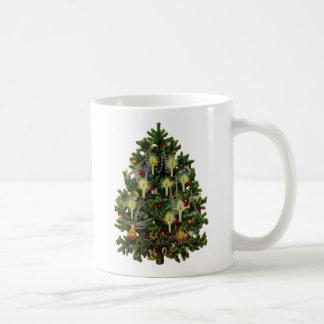 Vintage Christmas Tree Art Mugs