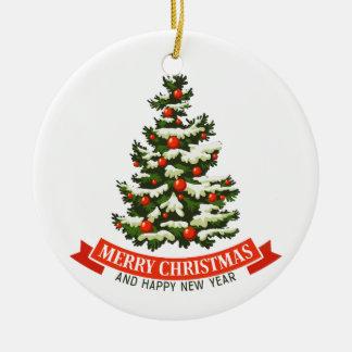 Vintage Christmas Tree Ceraminc Ornament