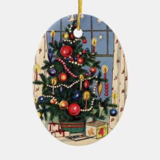 Vintage Christmas Tree Christmas Ornaments