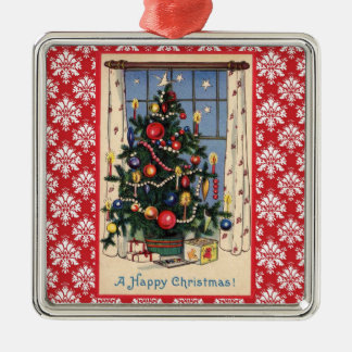Vintage Christmas Tree Design Ornament