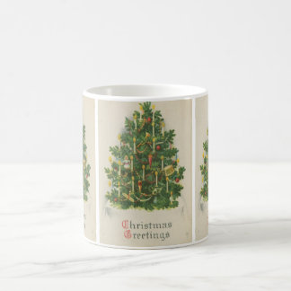 Vintage Christmas Tree Greetings Mugs