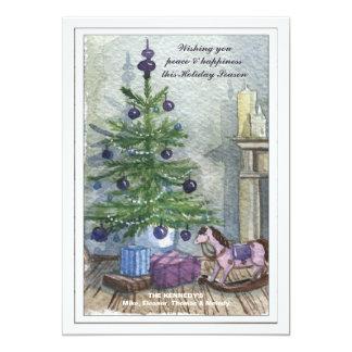 Vintage Christmas Tree Holiday Card