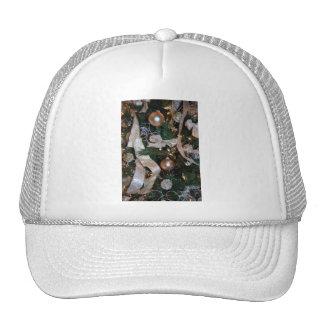 Vintage Christmas Tree Ornaments Mesh Hat