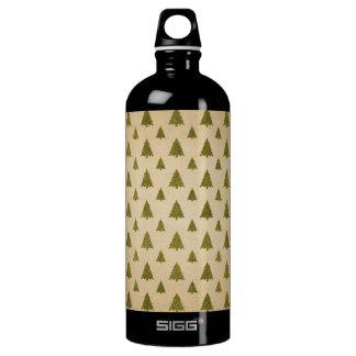 Vintage Christmas Tree Pattern Water Bottle