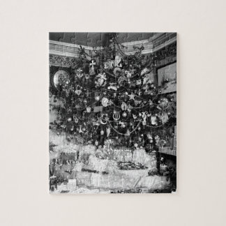 Vintage Christmas Tree Photograph (1910) Jigsaw Puzzle