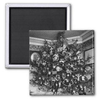 Vintage Christmas Tree Photograph 1910 Refrigerator Magnets