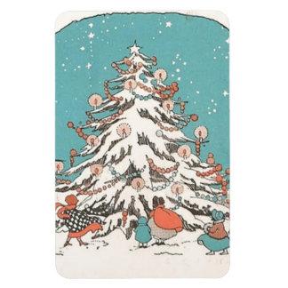 Vintage Christmas Tree Premium Flexi Magnet