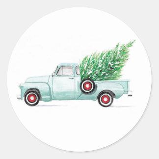 Vintage Christmas Truck Seal