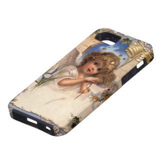 Vintage Christmas, Victorian Angel with Gold Bells iPhone 5 Cover