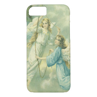 Vintage Christmas, Victorian Angels with a Bell iPhone 7 Case