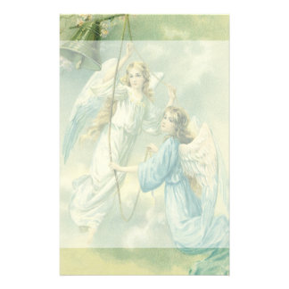 Vintage Christmas, Victorian Angels with a Bell Stationery