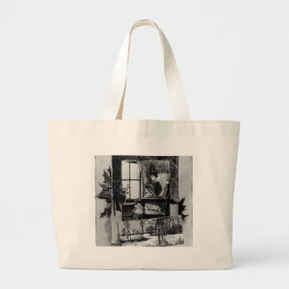 Vintage Christmas Victorian Family Scene Tote Bag