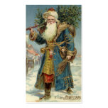 Vintage Christmas, Victorian Santa Claus Business Card Templates