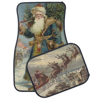 Vintage Christmas, Victorian Santa Claus Car Mat