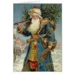 Vintage Christmas, Victorian Santa Claus Greeting Card