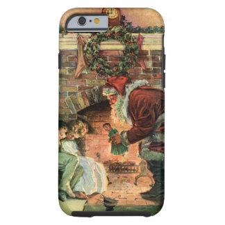Vintage Christmas, Victorian Santa Claus Children Tough iPhone 6 Case