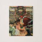 Vintage Christmas, Victorian Santa Claus Children Jigsaw Puzzle