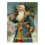 Vintage Christmas, Victorian Santa Claus Postcard
