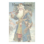 Vintage Christmas, Victorian Santa Claus Personalized Stationery