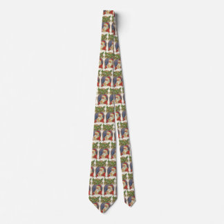 Vintage Christmas, Victorian Santa Claus with Pipe Tie
