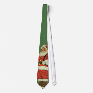 Vintage Christmas, Victorian Santa Claus with Toys Tie