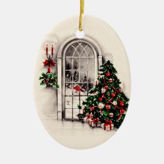 Vintage Christmas Window Lights Ornament