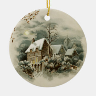 Vintage Christmas Winter Country Ornament