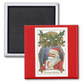 Vintage Christmas Wishes Fridge Magnet