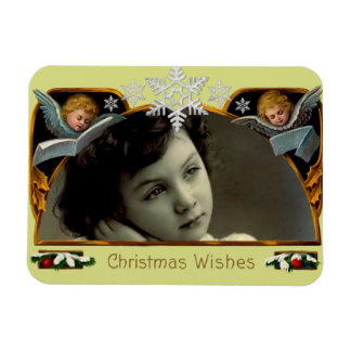 Vintage Christmas Wishes Photo Magnet