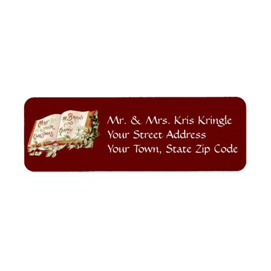 Vintage Christmas Wishes Return Address Label