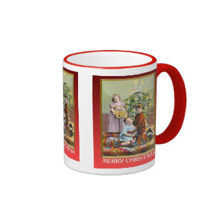 Vintage Christmas with an Edwardian family Ringer Mug