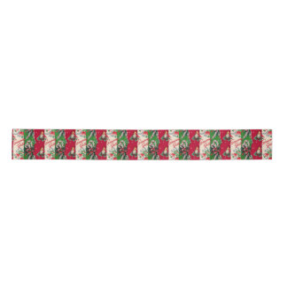 Vintage Christmas wrapping paper collage ribbon Satin Ribbon