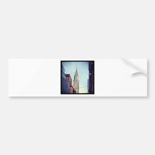 Vintage Chrysler Building Bumper Sticker