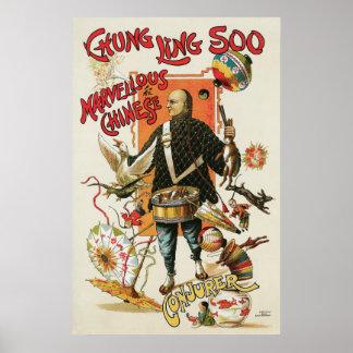 Vintage Chung Ling Soo Magician Poster