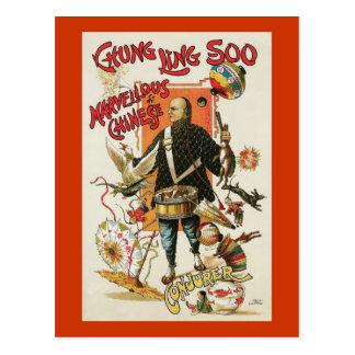 Vintage Chung Ling Soo Magician Poster Post Card