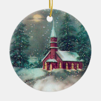 Vintage Church Christmas Ornament