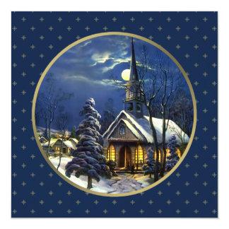 Vintage Church Design Religious Christmas Cards 13 Cm X 13 Cm Square Invitation Card