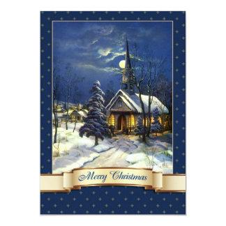 Vintage Church Design Religious Christmas Cards 13 Cm X 18 Cm Invitation Card