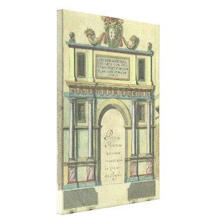 Vintage Church Door Entry Renaissance Architecture Canvas Print