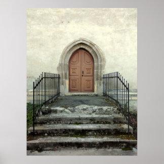 Vintage Church Door Poster