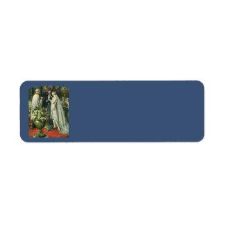 Vintage Church Wedding Ceremony; Bride and Groom Return Address Label