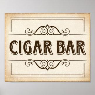 Vintage CIGAR BAR Sign Print