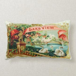 Vintage Cigar Box Label Lumbar Cushion